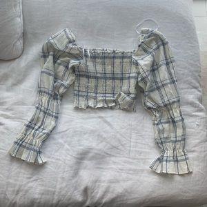Zara Crop Puff Sleeve Top
